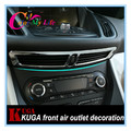 1 Piece Abs Chrome Air Condition Vent Decorative Trim Chrome Sequin Sticker for Ford Kuga 2013 2014 2015 2016 Accessories