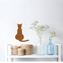 Cat Facing Away Wall Stickers Window Door Applicable Decal Interior Lovely Look Out Art Mural Vinyl Removable Sticker SYY199