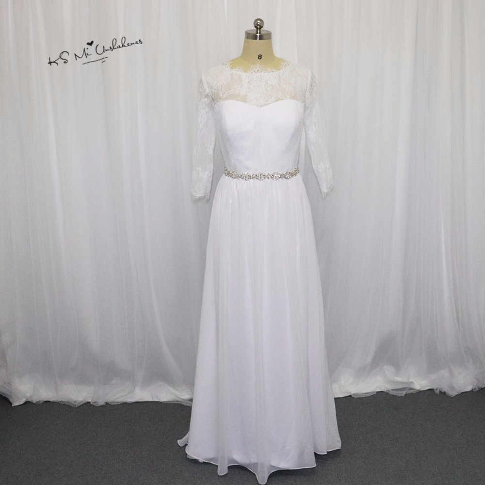 Vintage Cheap Wedding Dress China A Line Long Sleeve Lace