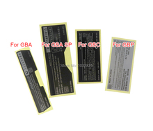 50 pz/lotto Per Game boy Etichetta Adesiva Per GameBoy GBA GBC GBP GBA SP Console custodia shell Back Tag