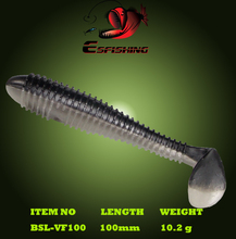 Hot Sale 6pcs 10cm/10g Esfishing Shad Vibro Fat 4″ Fishing Soft Lure Sea Fishing Swing Impact Fat Leurre Souple  Silicone Bait