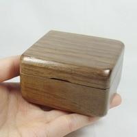 Handmade wind up walnut wood music box, customized engraved music box, DIY personalized gift free shipping
