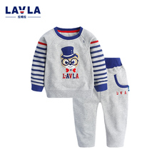 Children Sets LAVLA Kids Clothes New 2016 Autumn Children's Clothing Boy T-shirt Pant Kit Elastic Bear Baby Clothes Baby Suit