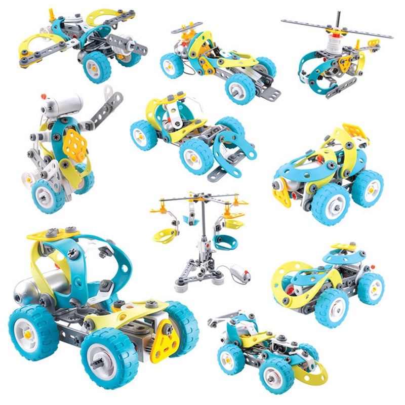 Car Building Blocks Assembling Toys Creative Construction Toys Car Toy Construction Building Blocks For Children's Day creative chain buckle ring blocks children plastic building blocks geometric buckle construction assembling toy educational toys