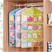 1pcs storage bag polyster PE toys box bags clothes socks organizer washable clothing hanging bag makeup organizer sundries box