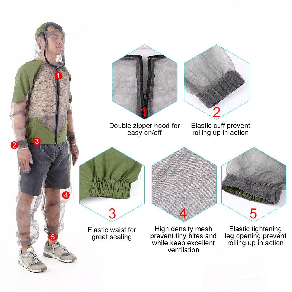 Outdoor Mosquito Repellent Suit Bug Jacket  5