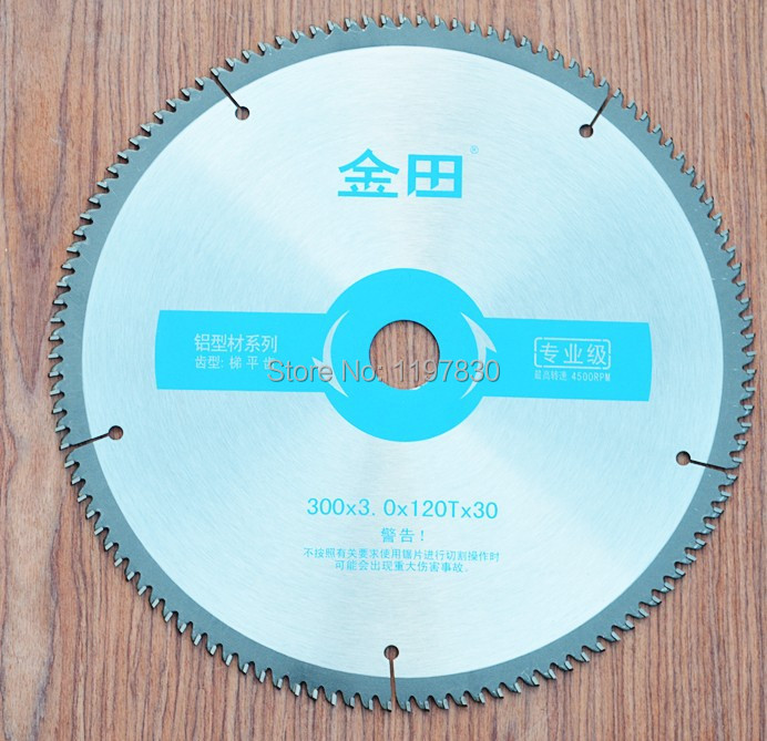 Free shipping Professional quality 300*30/25.4*3.0*120T TCG teeth TCT saw blade Non ferrous metal aluminum copper cutting blades no 1 twist plaster saws jewelry spiral teeth saw blades cutting blade for saw bow eight kinds of sizes 144 pcs bag