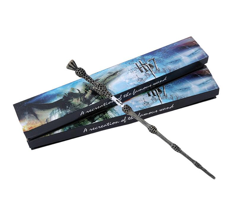 Colsplay Metal Iron Core Albus Dumbledore Old Wand Harri Potter 7 Dumbledore Scripture Wand Magic Magical Wand Original Gift Box 5pcs set movie cosplay albus dumbledore the elder magic wand harry potter core toys in box collection with gift box set