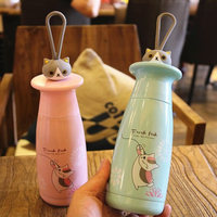 OUSSIRRO 350ml My Cute Cat Candy Color Stainless Steel Totoro Theme Thermos Cup With Creative Cover