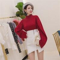 MENKAY New Little Girl Turtleneck Sweater Winter Korean Version Of The Loose Loose Wild Long