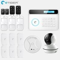 eTiger S4 GSM PSTN Alarm Wireless IOS/Android APP Home Burglar Security Protection Alarm System with PIR motion sensor