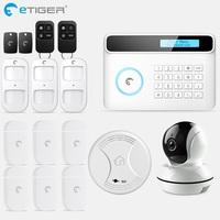 eTiger S4 GSM PSTN Alarm Wireless IOS/Android APP Home Burglar Security Protection Alarm System with PIR motion sensor