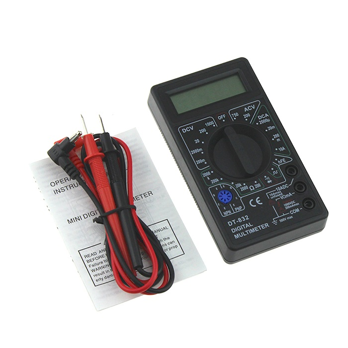 NEW Multimètre numérique LCD Volt Amp Ohm AC DC OHM Testeur Buzzer Circuit FR