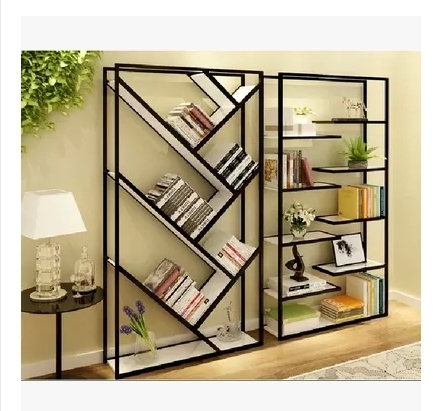 Personality off shelves Office shelving combination living room shelf simple iron floor wooden wall