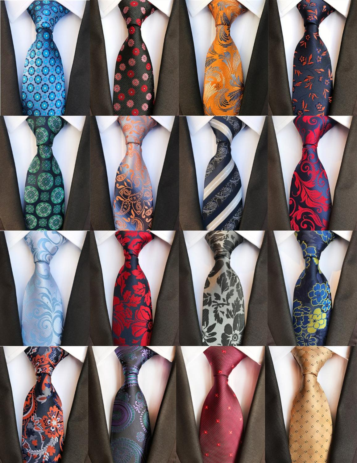 Classic Silk  Mens Tie Necktie Silk Single Tie Wedding Business Party