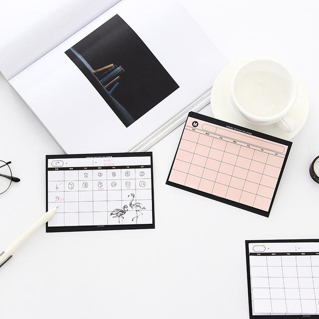 Minimalist Monthly Paper Schedule Planner