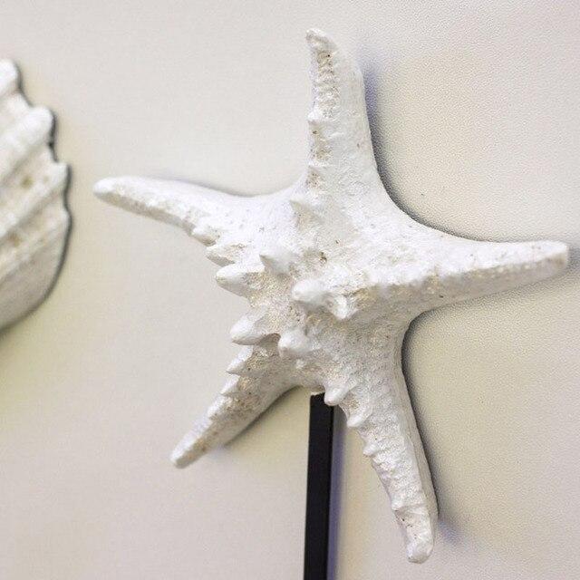 White Sea Shell Mediterranean Style Coat Hooks Home Decoration