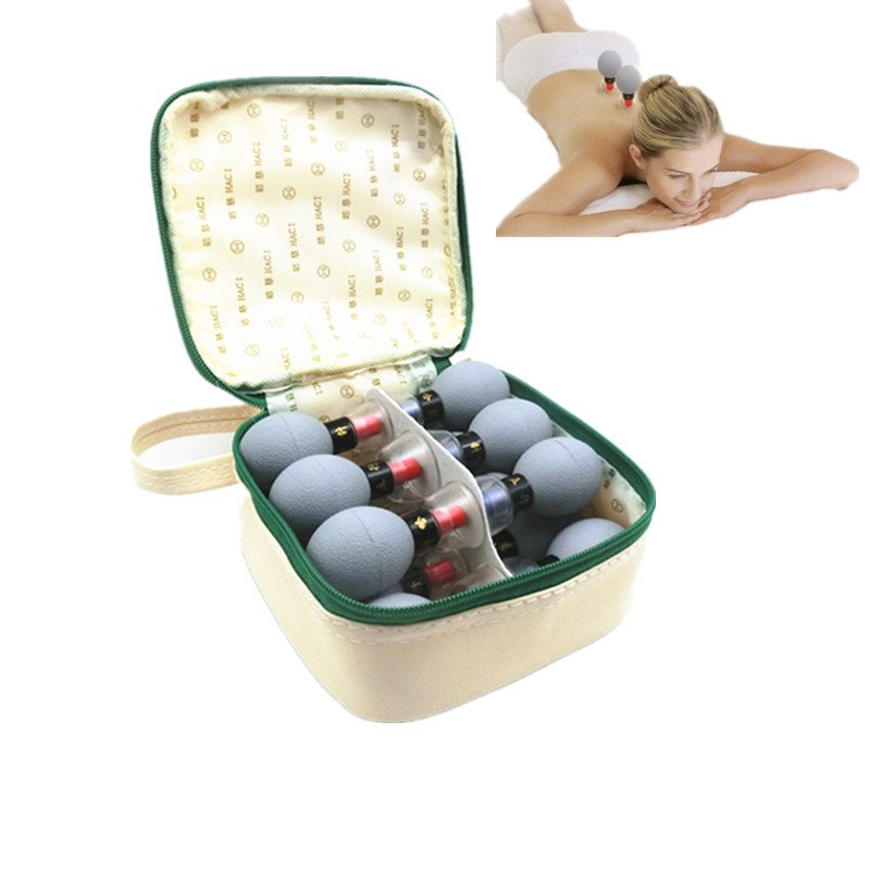 18pcs Vacuum Magnetic Therapy Acupressure Suction Cup TCM meridian acupuncture cupping set moxibustion massage