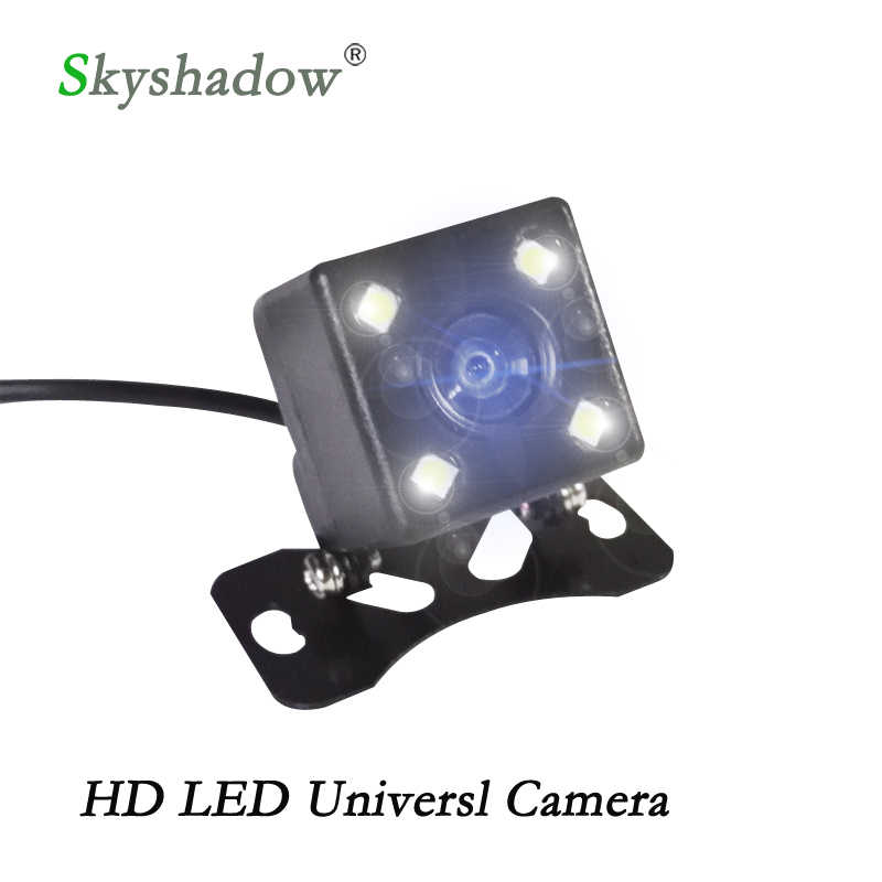 Universal Waterproof Rear View Camera Parkir Bantuan HD CCD 4 Lampu LED Night Vision