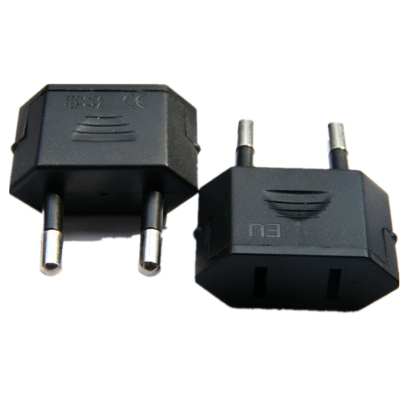 New CN US To EU Euro Europe Plug Adapter 2 Round Socket Converter Travel Electrical Power Adapter Socket China To EU Plug