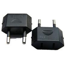 New CN US To EU Euro Europe Plug Adapter 2 Round Pins Socket Converter Travel Electrical Power Adapter Socket China To EU Plug