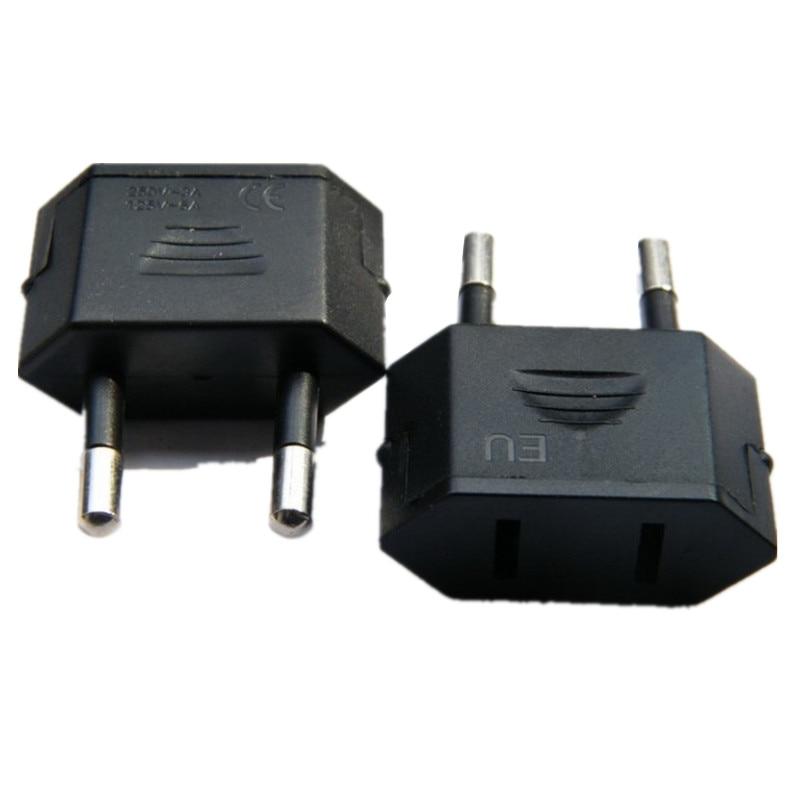 New EU Euro Europe to US USA Power Jack Wall Plug Converter Travel Adapter L  YF