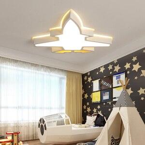 Image 4 - ילדי ילדי חדר תאורה מודרני תקרת מנורת plafondlamp led תינוק חדר שינה מחקר חדר Luminaria LED תקרת אורות