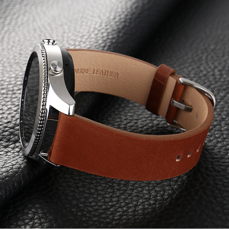 Excellent Quality 19.5cm Fashion Watchbands Luxury Replacement Leather Watch Bracelet Strap Band For Samsung Gear S3 Frontier