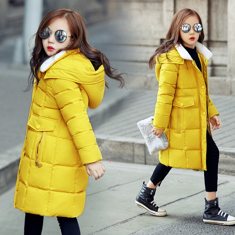 2017 winter new girls down jacket parkas children thickening outwear coat kids hood warm cotton outwear coat kids clothes 2017 men down jacket winter warm collar fur trim hood coat outwear puffer down cotton long jacket clothes thick canada cheap top