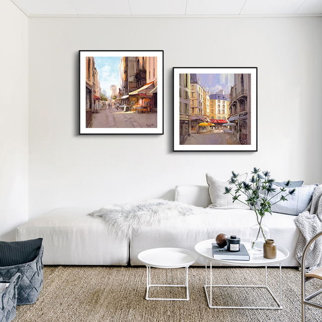 Sun Is Shining Paris Building Beauty Canvas Art Print Painting Poster, Wall  Pictures For Home Pictures Gallery