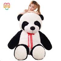 Vanmajor 80/100cm Panda plush toys stuffed animals PP Cotton black/white bear doll kids baby birthday pillow Cushion