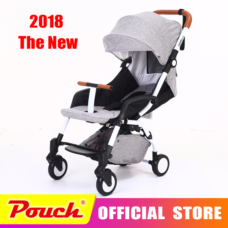 все цены на YYCARE New Style baby strollers ultra-lightweight folding can sit can lie high landscape umbrella baby trolley summer and winter
