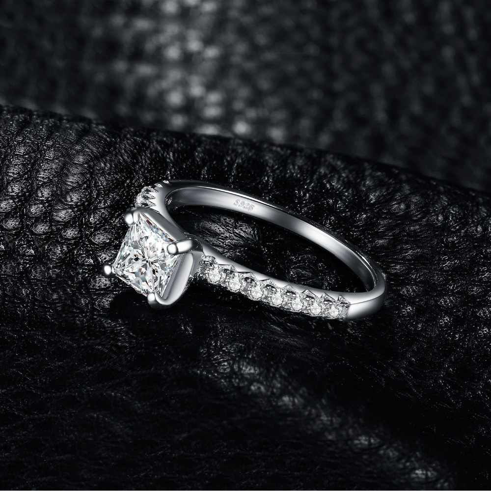 2ae46367d9 ... JewelryPalace 1.6ct Princess Cut Cubic Zirconia Promise Wedding  Engagement Solitaire Ring 925 Sterling Silver Ring ...