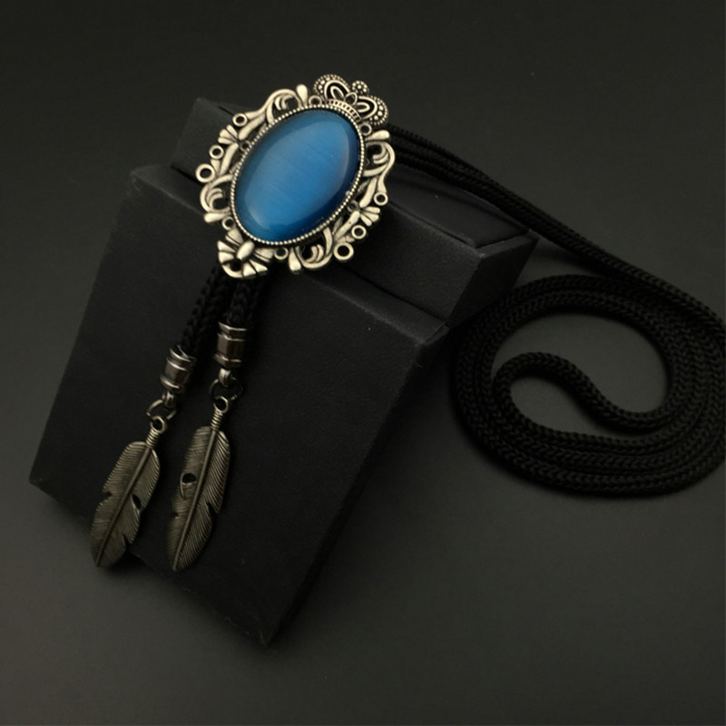 Mantieqingway Western Cowboy Bolo Ties for Men Silver Tone Bolo Slide Turquesa Natural Vintage Indian Concho Tribal Bolos Tie