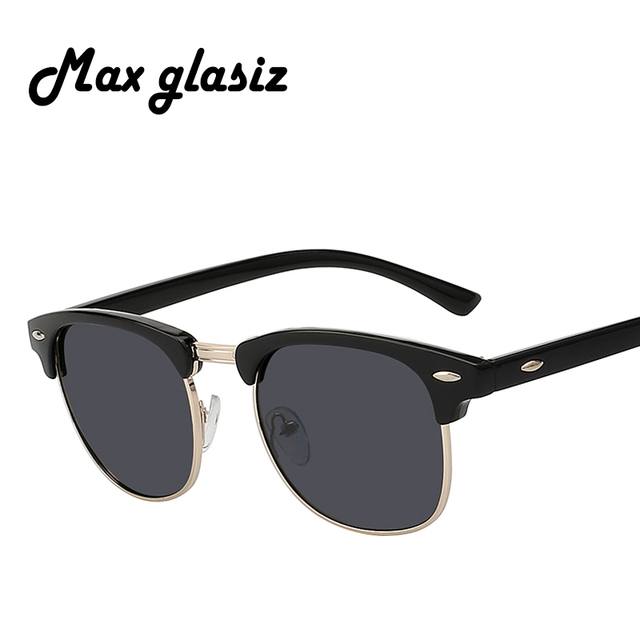 5972b1045 Maxglasiz Polarizada Homens Óculos De Sol Clássico Marca Masculino Designer  de Alta Qualidade Óculos de Sol