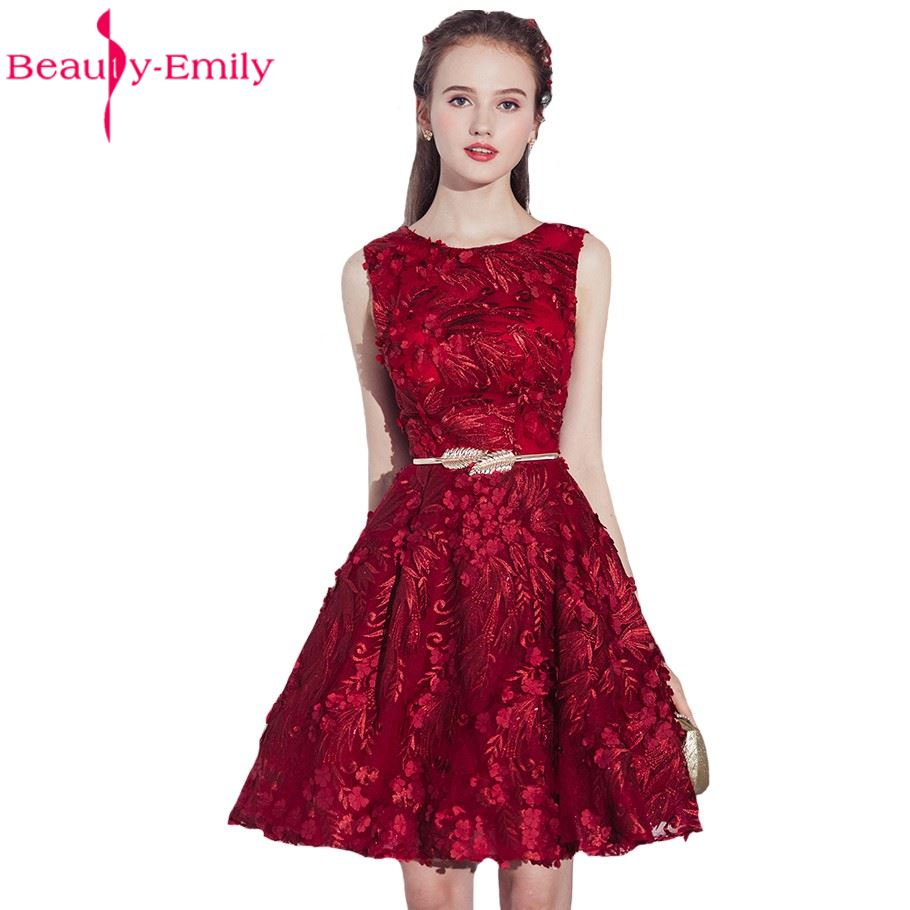 Beauty emily wine red sexy short knee length bridesmaid dresses a beauty emily wine red sexy short knee length bridesmaid dresses a line lace up prom party dresses homecoming dresses in bridesmaid dresses from weddings ombrellifo Choice Image