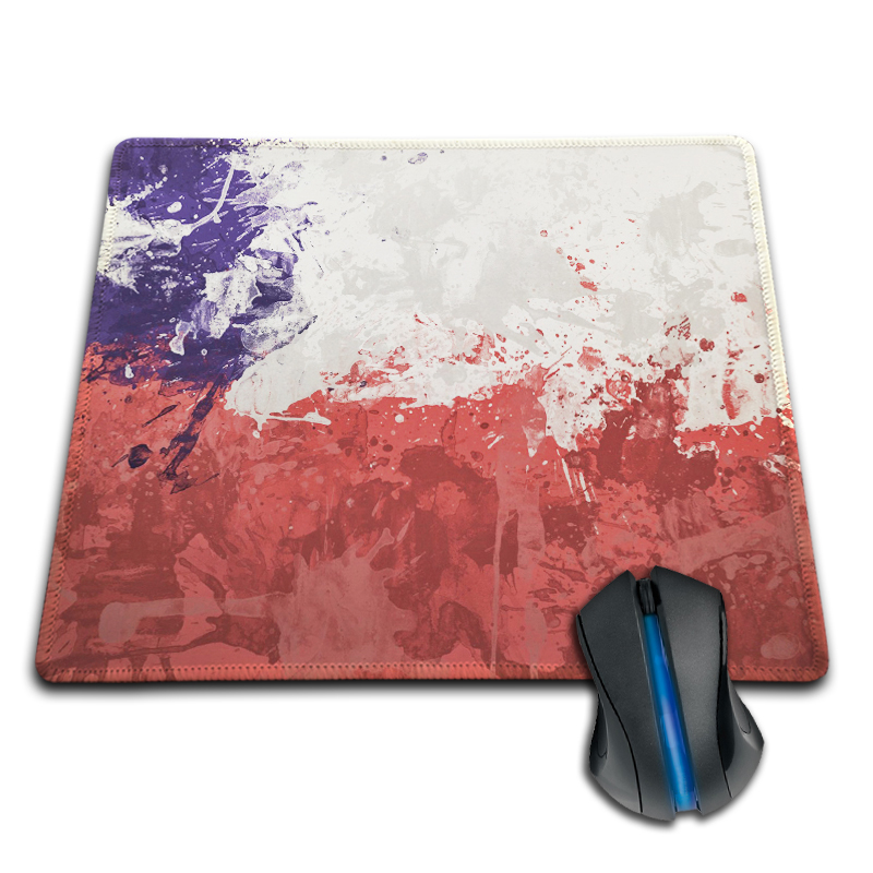Babaite Stylish Top Selling Chile Flag Style Gaming Gamer Comfort Mousepad for Optical L ...