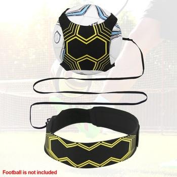 Control Skills Kick Ball Football Strap Training Aid Durable Elastic Returner Neoprene Practice Hand-free Soccer Trainer Belt