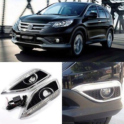 DRL Car LED Daytime Running Light Foglight Modified For Honda CRV 2012 2015