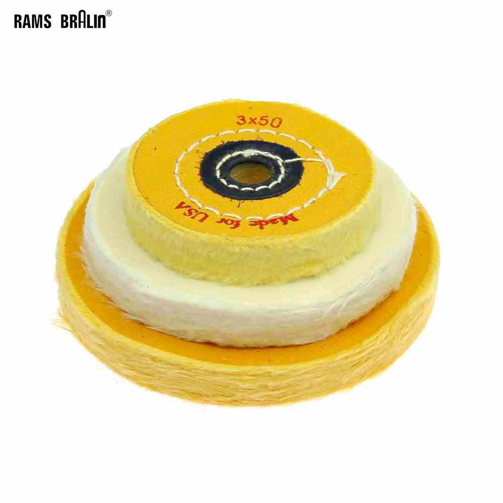1 Piece Cotton Lint Mirror Polishing Wheel Jewelry Buffing Wheel