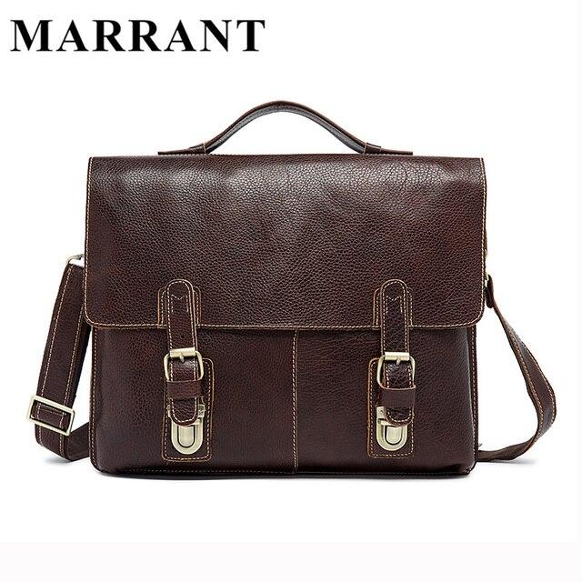 MARRANT Men Bag Genuine Leather Fashion Man Messenger Bags Cowhide Leather Crossbody Shoulder Handbag Male Business Bag 9112