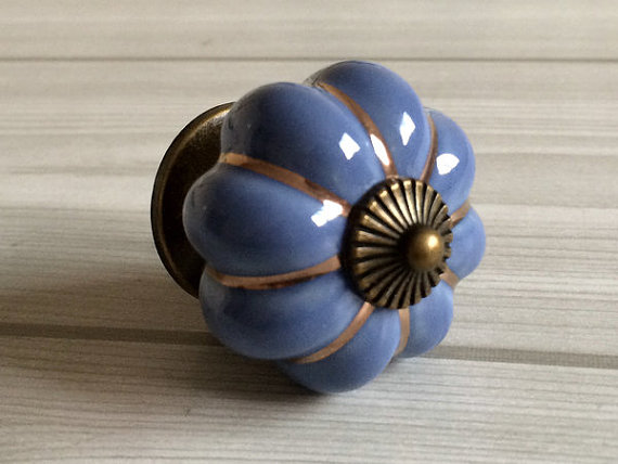 decorative kitchen cabinet knobs blue pumpkin knobs kitchen cabinet knobs dresser knob 14584