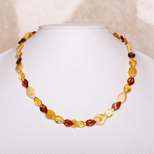 Women popular natural amber necklace luxury explosion models