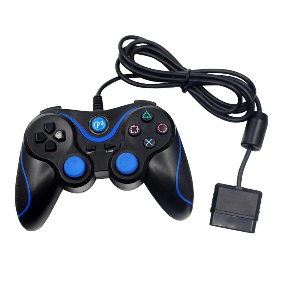 Wired Game Vibration controller Gamepad for Sony for PS2 Controller Joystick for PlayStation 2 image