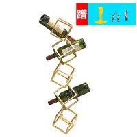 Прямая продажа с фабрики нового красного винного каркаса настенный стеллаж для хранения декоративные бутылки для вина держатель Железный ...