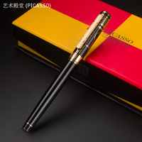 1pc Lot Picasso 902 Roller Ball Pen Art Palace Picasso Black Pens Gold Clip Luxury Writing