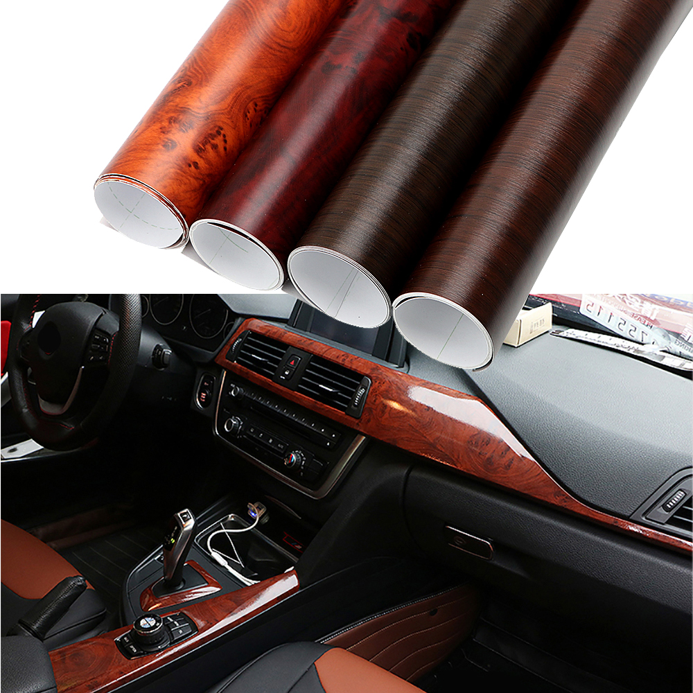 30*100cm Car Wrap Film Auto Decors Protective Wood Grain Textured Car Styling 3D Car Stickers and Decals PVC DIY  Decoration car styling diy hood sticker cartoon decals camouflage vinyl film exteriors single ralliart stickers on cars protective film