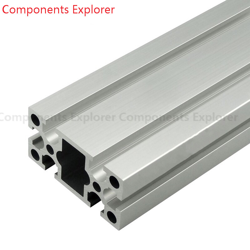 Arbitrary Cutting 1000mm 4080GW Aluminum Extrusion Profile,Silvery Color.