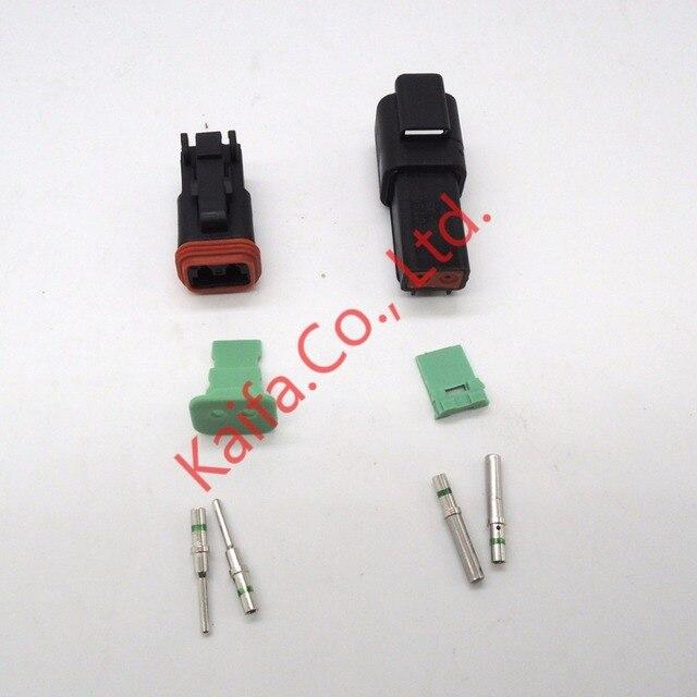 14 GA,black 5 sets Kit Deutsch DT 2/3/4 Pin Waterproof Electrical ...