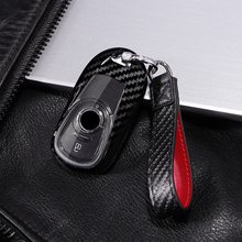 Carbon fiber+PC 360°Protection Key Case Cover for OPEL Astra Buick ENCORE ENVISION NEW LACROSSE Rings Protect Shell Car Styling